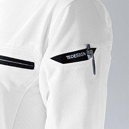 81355 TS DESIGN ES ワークニットショートポロシャツ(男女兼用) マルチスリーブポケット