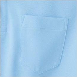 ジーベック 6030 ハニカムメッシュ半袖ポロシャツ(胸ポケット有り)(男女兼用) ポケット付き