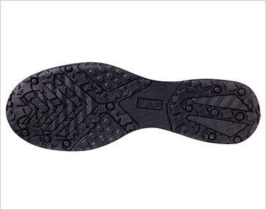 ジーベック 85404 マジックテープセフティシューズ 樹脂先芯 靴底には油に強い耐油配合のラバーを使用しています。