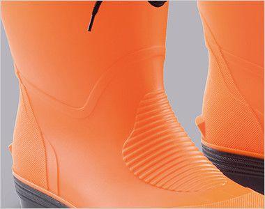 ジーベック 85763 ショート丈安全長靴 耐酸性・耐アルカリ性・耐油性に優れたPVC素材