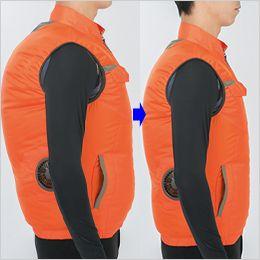 ジーベック XE98011 [春夏用]空調服 ベスト ポリ100% 身頃の膨らみを抑えたシャープなシルエット