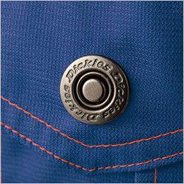 21-1411 ディッキーズ [春夏用]高通気半袖ツナギ ロゴ入りドットボタン