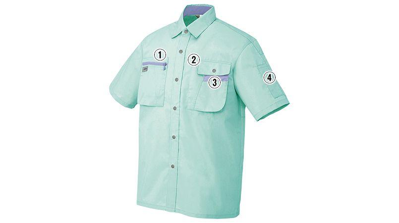 AZ5326 アイトス ムービンカット シャツ/半袖 商品詳細・こだわりPOINT