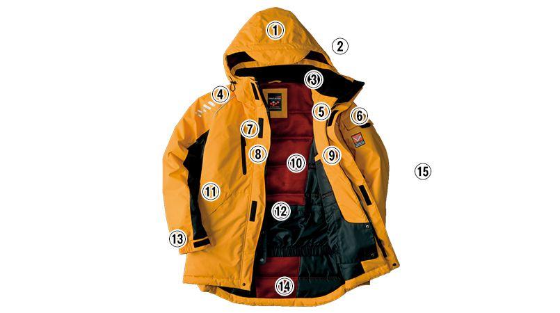 AZ6063 アイトス 極寒対応 光電子 防風防寒着コート 商品詳細・こだわりPOINT