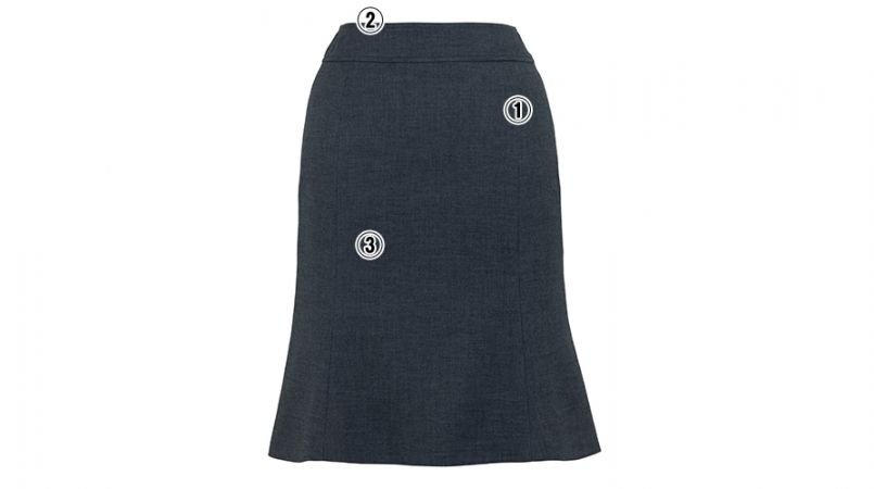 BONMAX AS2267 [通年]セゾン 消臭加工剤が不快なニオイを消臭するマーメイドスカート 無地 商品詳細・こだわりPOINT