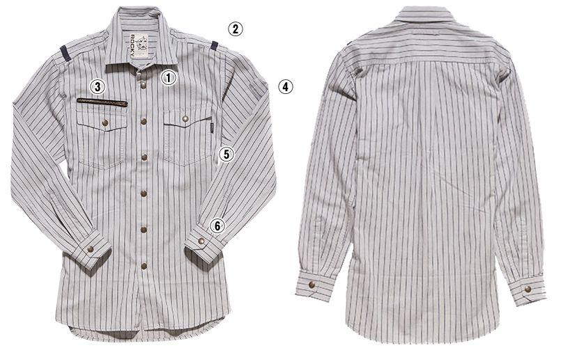 RS4302 ROCKY ワークシャツ(女性用) 商品詳細・こだわりPOINT