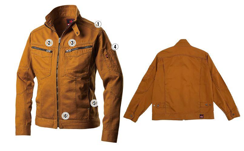 バートル 5501 綿100%チノクロスジャケット(男女兼用) 商品詳細・こだわりPOINT