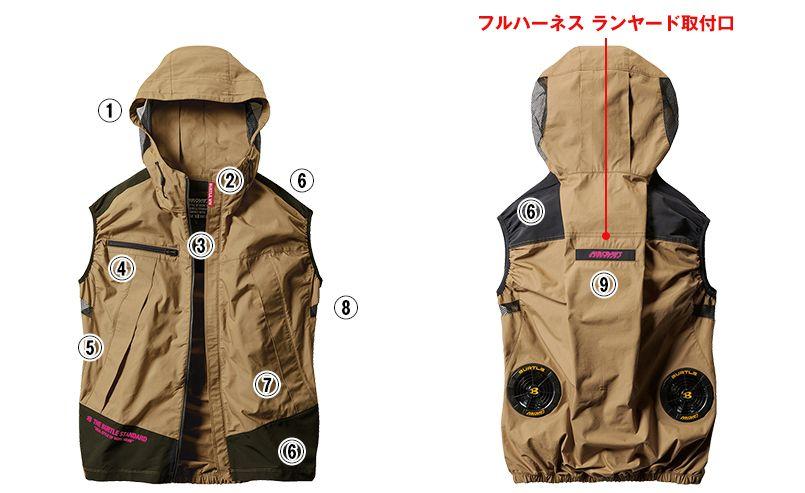 AC1134SET バートル エアークラフトセット[空調服] パーカーベスト(男女兼用) 商品詳細・こだわりPOINT