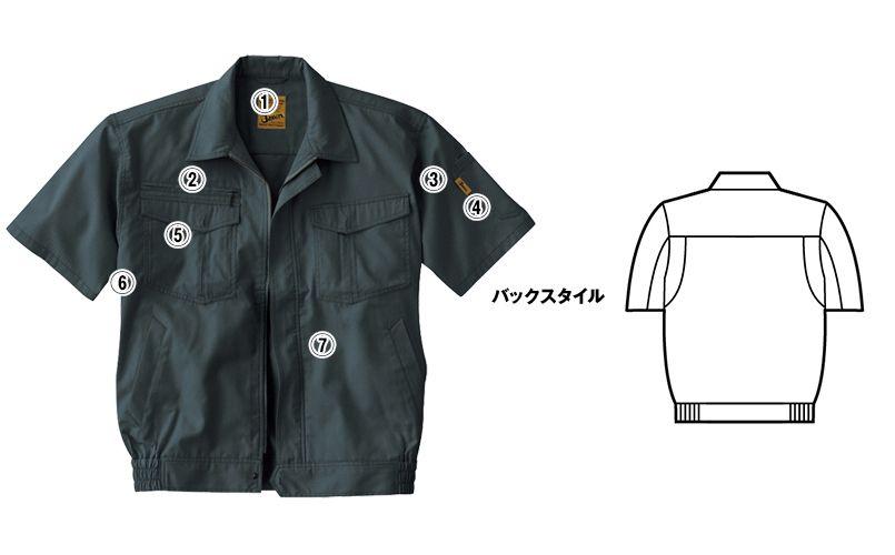 自重堂 55210 [春夏用]JAWIN 半袖ブルゾン 商品詳細・こだわりPOINT