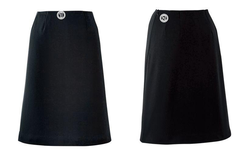 en joie(アンジョア) 51873 Aラインスカート 無地 商品詳細・こだわりPOINT