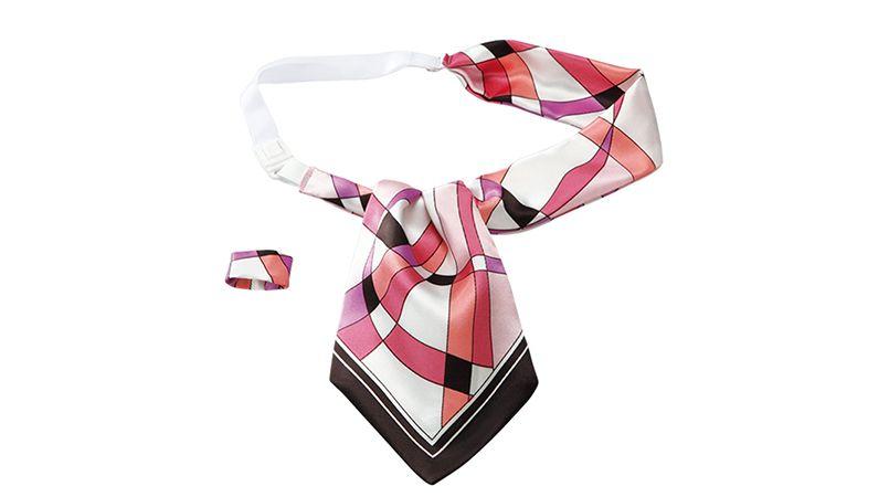 EAZ447 enjoy スタイリッシュな幾何学模様で爽やかに決めるアスコットスカーフ 商品詳細・こだわりPOINT