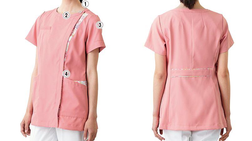 LW601 ローラアシュレイ 半袖ナースジャケット(女性用) 商品詳細・こだわりPOINT