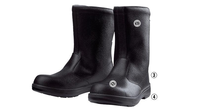 ジーベック 85024 安全半長靴 樹脂先芯 商品詳細・こだわりPOINT
