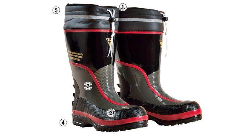 ジーベック 85705 防寒安全長靴 スチール先芯 商品詳細・こだわりPOINT