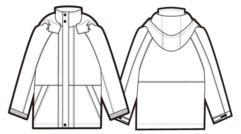 AZ6160 アイトス 光電子 軽量 防水防寒コート ハンガーイラスト・線画
