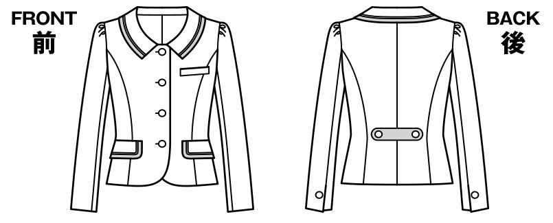 BONMAX LJ0162 [通年]フェリーチェ ツイードジャケット チェック ハンガーイラスト・線画