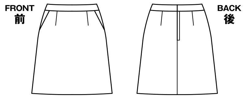[在庫限り/返品交換不可]LS2749 BONMAX/コンフィー Aラインスカート ドット ハンガーイラスト・線画