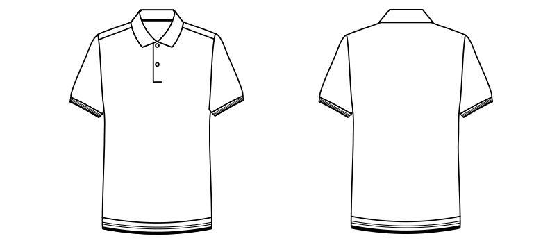 MS3117 ナチュラルスマイル 裾ラインリブ ドライポロシャツ(男女兼用) ハンガーイラスト・線画