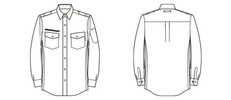 RS4302 ROCKY ワークシャツ(女性用) ハンガーイラスト・線画