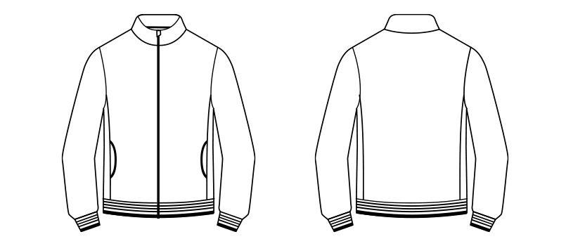 TJ0800U ナチュラルスマイル トレーニングジャケット(男女兼用) ハンガーイラスト・線画