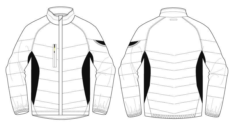 バートル 7410 防風ストレッチ軽量防寒ブルゾン(男女兼用) ハンガーイラスト・線画