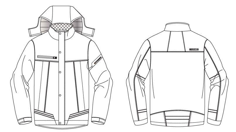 バートル 7610 防水防寒ジャケット(男女兼用) ハンガーイラスト・線画