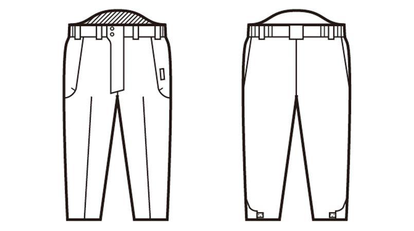 自重堂 48341 中綿シンサレート防水防寒パンツ ハンガーイラスト・線画