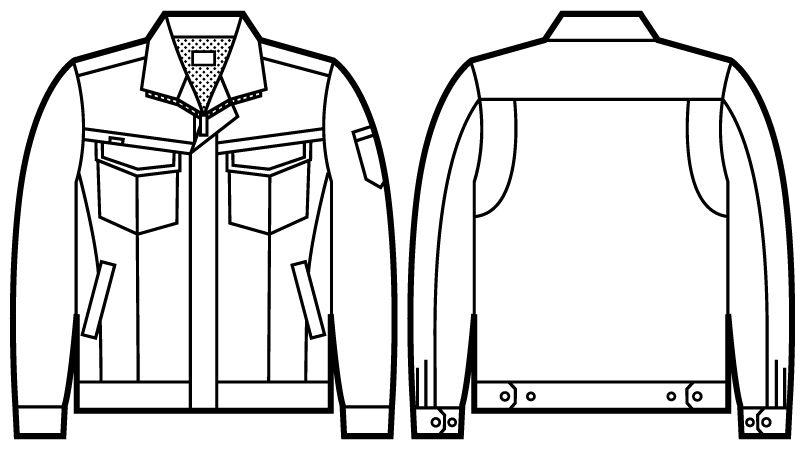 52200 自重堂JAWIN 長袖ジャンパー(新庄モデル) ハンガーイラスト・線画