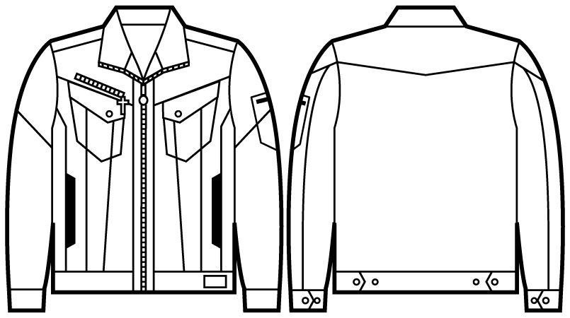 52400 自重堂JAWIN 長袖ジャンパー(新庄モデル) ハンガーイラスト・線画