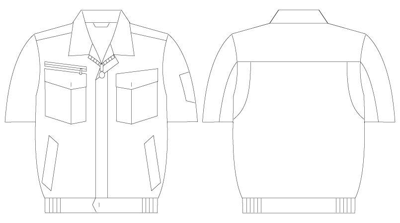 自重堂 55210 [春夏用]JAWIN 半袖ブルゾン ハンガーイラスト・線画
