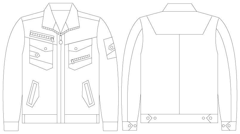 自重堂 56000 [春夏用]JAWIN 長袖ジャンパー(新庄モデル) ハンガーイラスト・線画