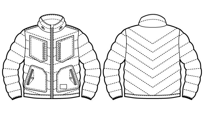 自重堂 58300 [秋冬用]JAWIN 防寒ジャンパー ハンガーイラスト・線画