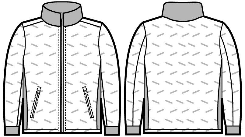 自重堂JAWIN 58600 シームレス防寒ジャンパー ハンガーイラスト・線画