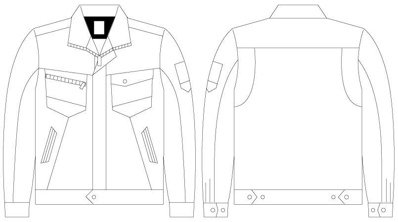 自重堂Z-DRAGON 75300 [春夏用]製品制電長袖ジャンパー(男女兼用) ハンガーイラスト・線画
