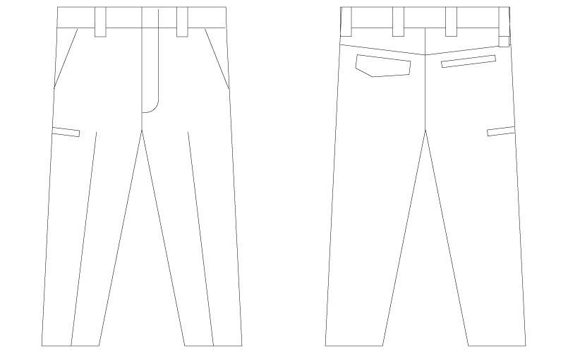 自重堂Z-DRAGON 75501 [春夏用]製品制電ノータックパンツ ハンガーイラスト・線画
