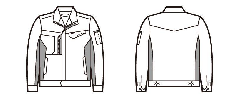 自重堂 83100 製品制電ストレッチジャンパー ハンガーイラスト・線画