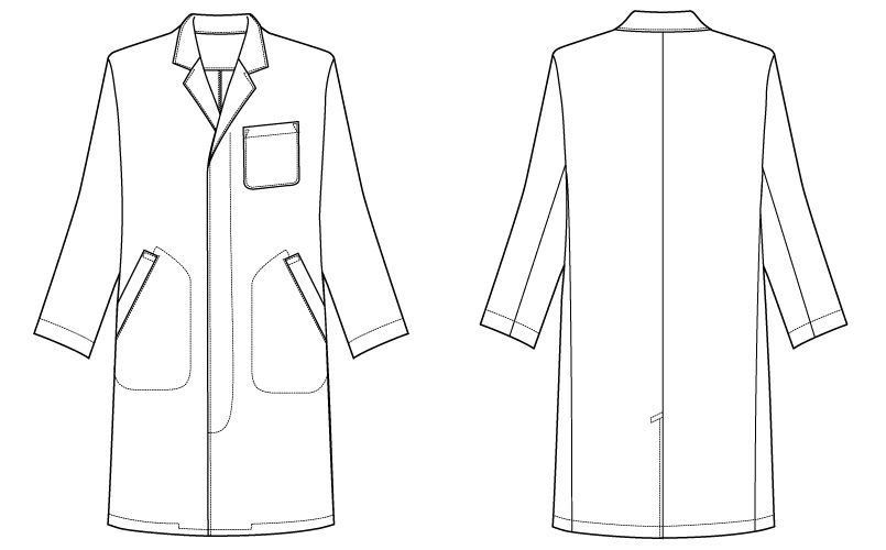 自重堂 WH2114 WHISEL メンズシングルコート(男性用) ハンガーイラスト・線画