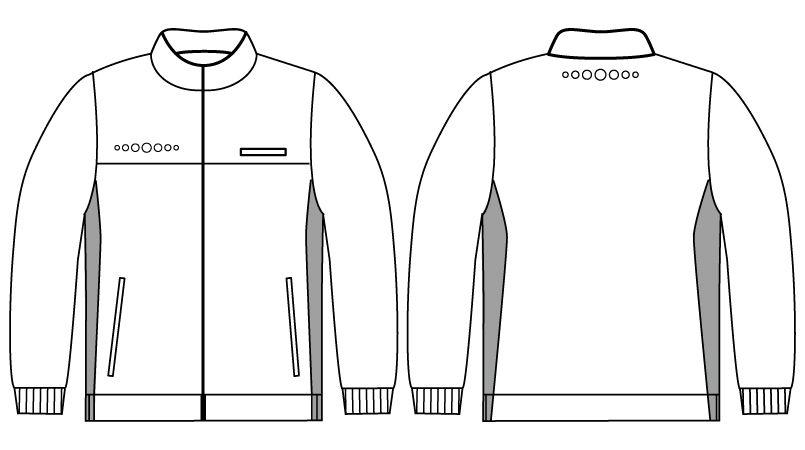 自重堂 WH90245 WHISEL ハーフジャケット(男女兼用) ハンガーイラスト・線画