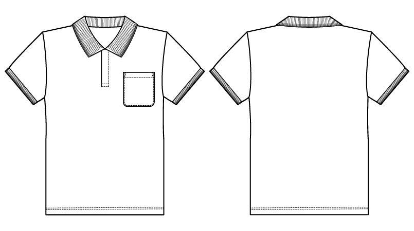 自重堂WHISEL WH90318 半袖/ドライポロシャツ(男女兼用) ハンガーイラスト・線画