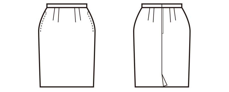 en joie(アンジョア) 51410 [通年]スタイル良く美しいシルエットで快適着心地のタイトスカート 無地 ハンガーイラスト・線画