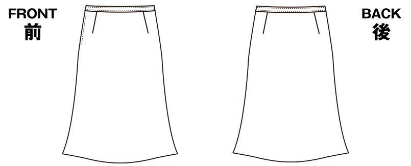 S-16541 16549 パトリックコックス Aラインスカート ブラインドチェック ハンガーイラスト・線画