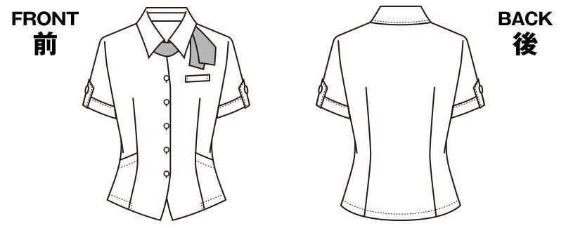 S-50120 50121 50122 50126 SELERY(セロリー) ニット オーバーシャツ ハンガーイラスト・線画